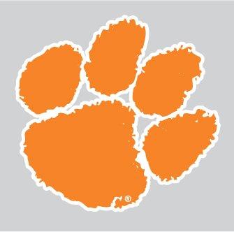 0b9b49d8f22f Amazon.com: Clemson Tigers Orange TIGER PAW Logo 4