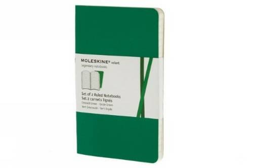 Moleskine Volant Notebook (Set of 2), Pocket, Ruled, Emerald Green, Oxide Green, Soft Cover (3.5 x 5.5) by Moleskine (Image #4)