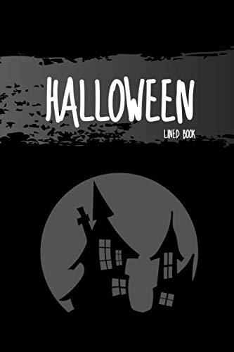 (Halloween Lined Book: No.4 Black Color 6x9