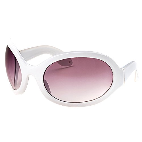 623475879c9c Pop Fashionwear Unisex Color Bug Eye Sunglasses Retro Rave Shades P501  (White