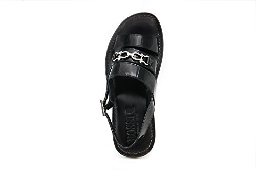 Rossi Heren Lakleder Sandaal Zwart