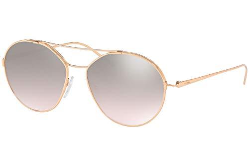 Prada PR56US Sunglasses Pink Gold w/Brown Mirror Silver Gradient 55mm Lens SVF204 SPR56U PR 56US SPR 56U