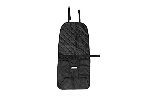 Pet Dog Car Seat Cover, Black Heavy Duty 600D Oxford, Waterproof, Scratch Proof Nonslip Quilted Padded Washable , 20 inches W x 39 inches L, Fits Most Cars Trucks and SUV's