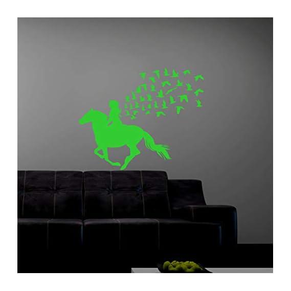 DreamKraft Glow in The Dark Kids Room Decor Radium Sticker (Green, 45x37 cm)