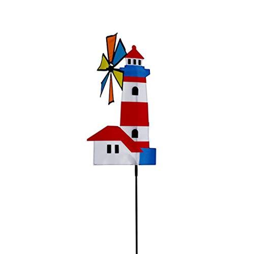 JUNESUN 3D House Windmill Wind Spinner Whirligig Pinwheel Yard Garden Decor Outdoor Classical Kids Toys
