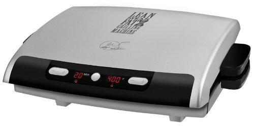 George Foreman 6-Serving Removable Plate Electric Indoor Grill and Panini Press, Silver, GRP99 by George Foreman