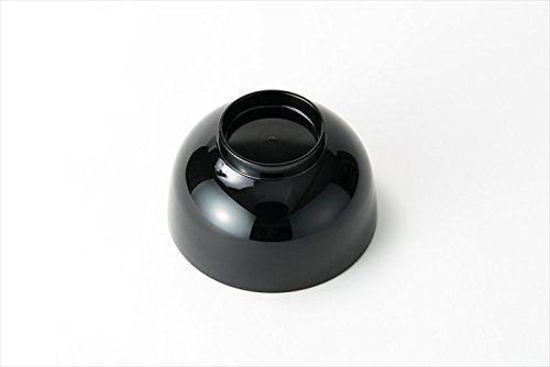 Asahi Kyouyou Japanese Black Smooth Bowls Set for Rice,Soup etc... 5 Bowls Set