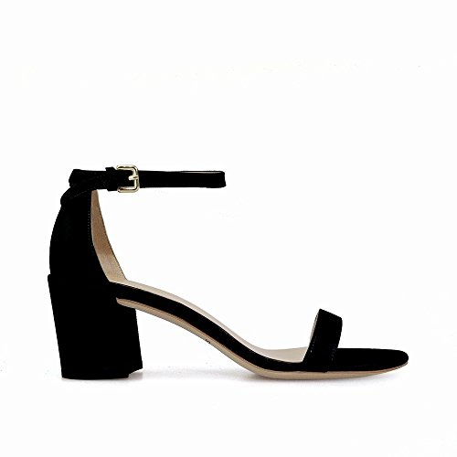 Sandalias Hadas Chic De 34 Tacón Una Alto un Áspera Palabra Dhg Zapatos Con Abiertos ISYqB