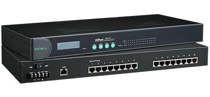 MOXA NPort 5610-16 - 16 Ports RS-232 Rack Mount Serial Device Server by Moxa