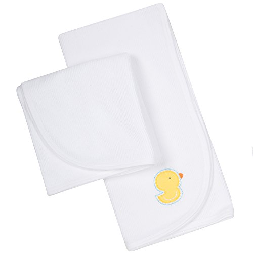 Gerber White Thermal Receiving Blanket - 2 Pack 2 Pack Thermal Blanket