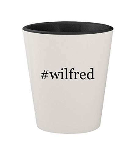 #wilfred - Ceramic Hashtag White Outer & Black Inner 1.5oz Shot Glass]()