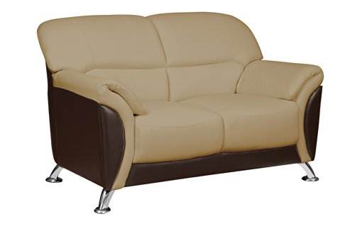 Global Furniture Loveseat, Cappuccino/Chocolate PVC Finish