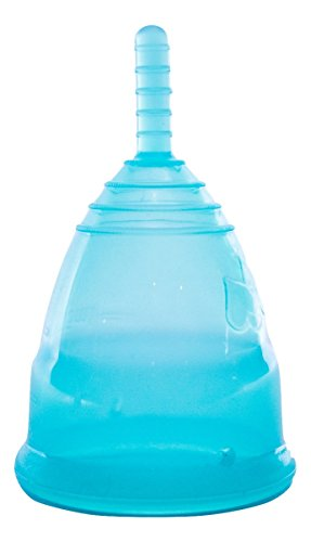 BPA/Dioxin Free Silicone Menstrual Cup with Bag (Post-Birth, Turquoise)