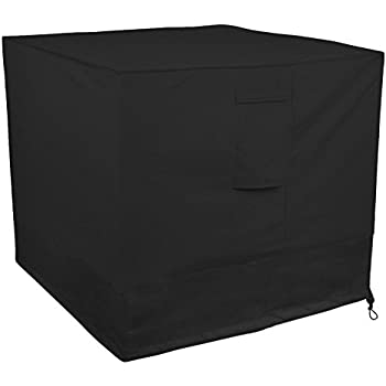 Little World Winter Air Conditioner Cover Heavy Duty Large Universal Veranda AC Unit Cover for Standard American Central Air Conditioner Outdoor Vent Full Cover (Square) 34 x 34 x 30- inch, Black