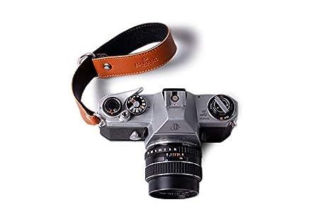 Correa de Piel para la muñeca de la cámara: Amazon.es: Electrónica