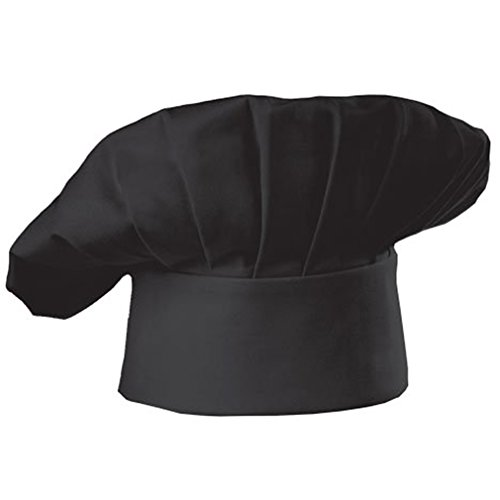 chef-hat-adult-adjustable-elastic-baker-kitchen-cooking-chef-cap-black