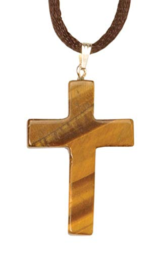 - J[B] Pendant Latin Cross Tiger's-Eye Quartz