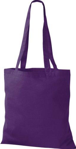 Tessuto Color Cotone Spalla Shopper A In Uomo Viola Tinta Di Borsa Tracolla Borsa Unita Da A qS4pXxUwA