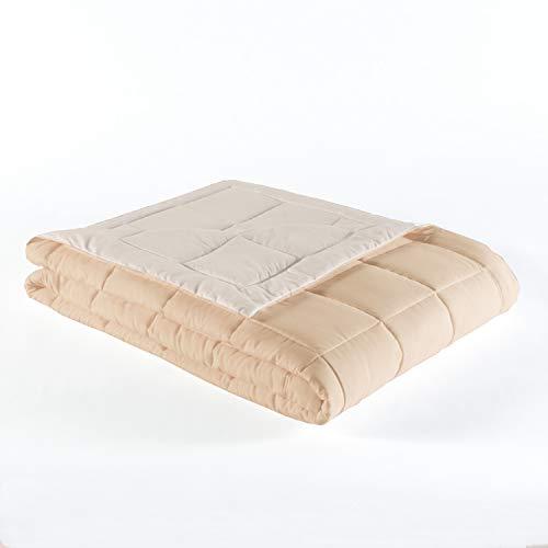 - Tommy Bahama Bedding - Reversible Beige Banana Leaf Pattern Blanket - Lightweight 230 TC Microfiber Down Alternative Blanket (Twin XL 70