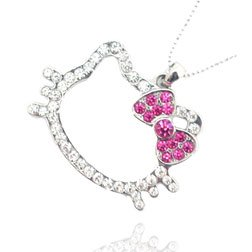 Amazon hello kitty head shaped pendant charm necklace chain hello kitty head shaped pendant charm necklace chain mozeypictures Image collections