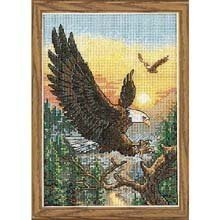 Dimensions Needlecrafts Counted Cross Stitch, (Eagle Cross Stitch)