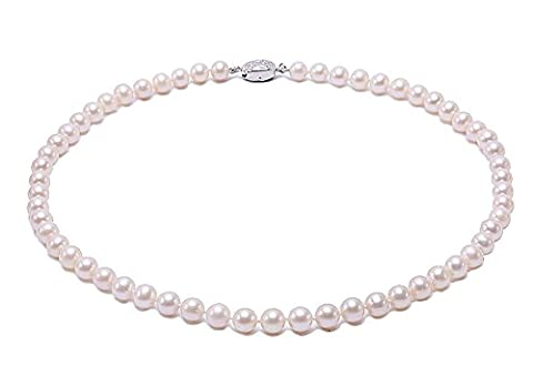JYX Classic AAA Round 9mm Natural White Cultured Freshwater Pearl Necklace 18