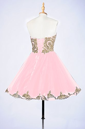 Pink 99Gown Short Dress Prom Affordable Beautiful Sparkly Prom Lace Dresses Homecoming Dresses qqRTS