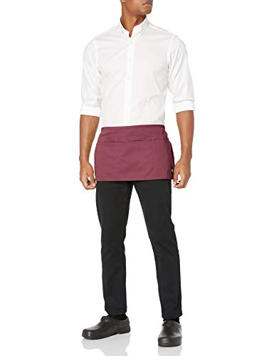 Dickies Chef Men's Bistro Waist Apron, Burgundy Server, One Size