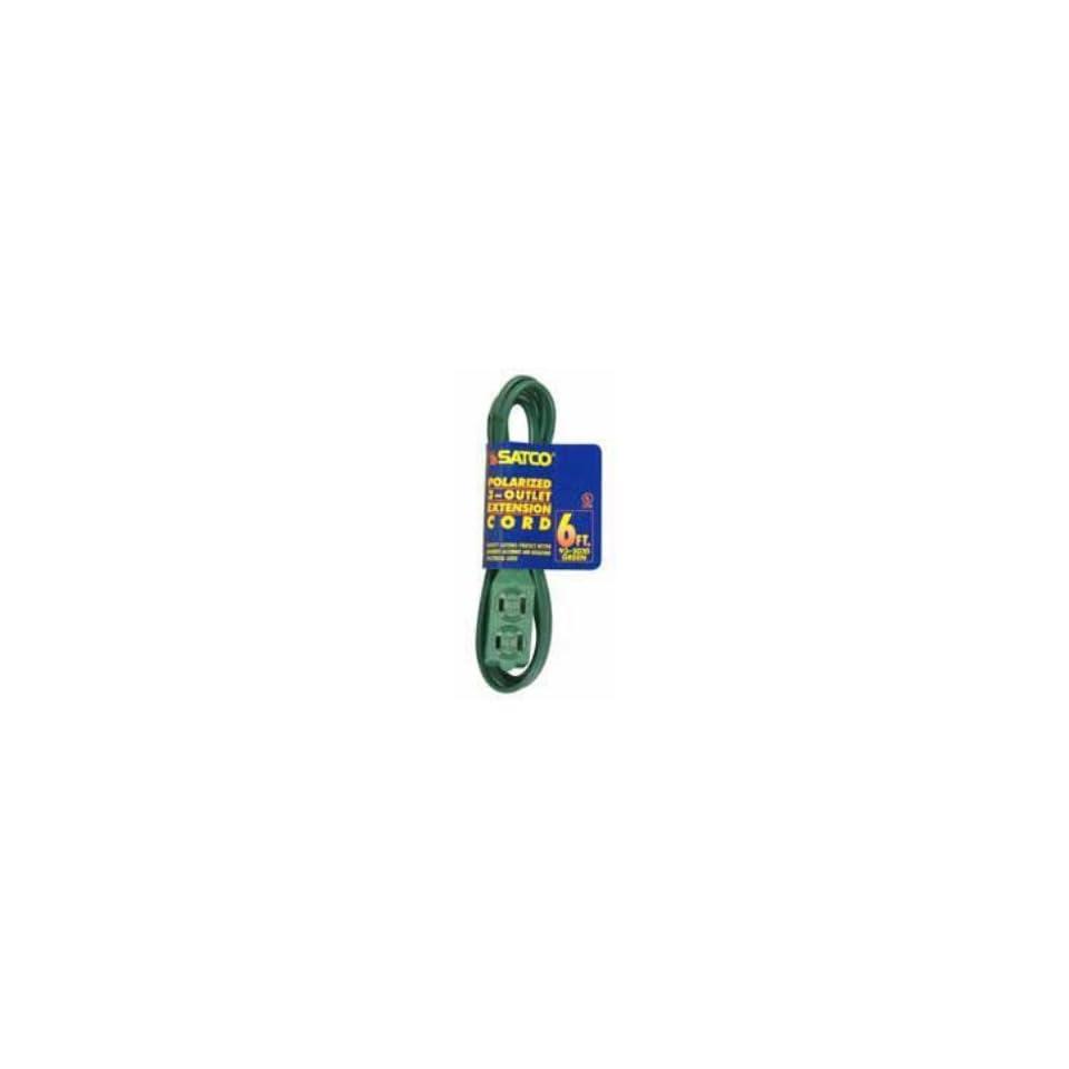 Satco 6 FT Green Indoor Light Duty Extension Cord   935020