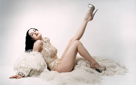 makeuseof Dita von Teese burlesque dancer model costume designer actress glam women sexy babes females 3 Home Decoration Canvas (Colleges For Costume Designers)