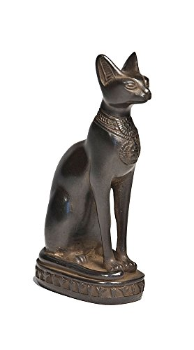 Discoveries Egyptian Imports Bastet Cat Goddess Statue - Black - 5.5