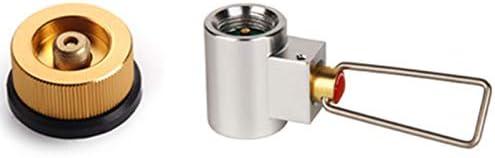 ACAMPTAR Adaptador de Conversión Bote Válvula Adaptador de La Estufa de Gas de Camping Recambio de La Palanca de Cambio del Conversor de Gas