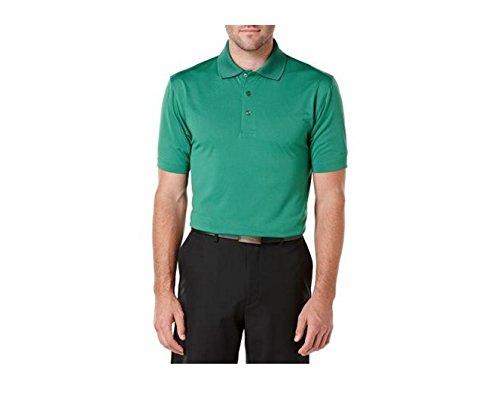 Ben Hogan Performance Men's Golf Short Sleeve Solid Ventilated Polo Shirt (X-Large, Verdant Green)