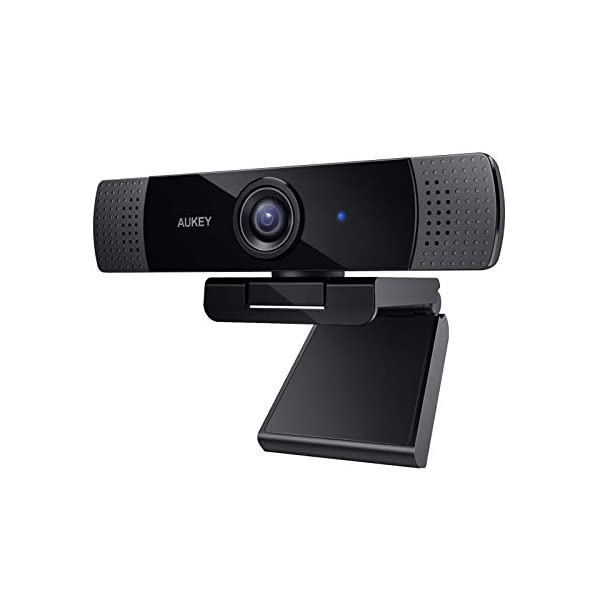 AUKEY FHD Webcam 1080p Live Streaming Camera with Stereo Microphone Desktop or Laptop USB Webcam