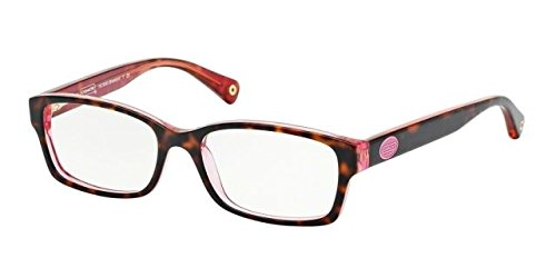 Coach Womens Tortoise/Pink Frame/Demo Lens Oval 52MM Non-Polorized - Lens Coach Frames