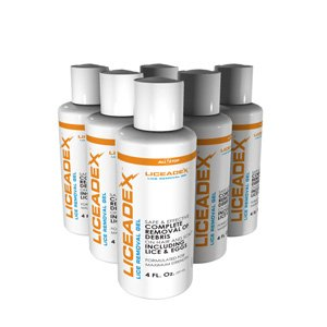 Liceadex Lice & Nit Removal Gel :: Non-Toxic Lice Treatment Gel :: 6 Pack (Pubic Lice)