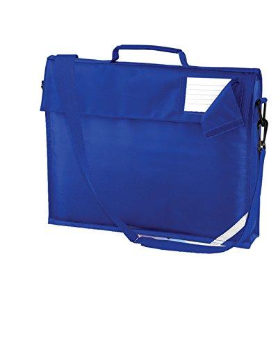 Quadra Kids Junior Book Bag With Shoulder Strap Children School Holdall One Size Bright Royal