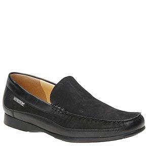 Mephisto Men's Baduard Slip-On Loafer, Black Nubuck/Calf, 10.5 M