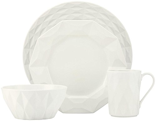 (kate spade new york Castle Peak 4-piece Dinnerware Place Setting, Cream)