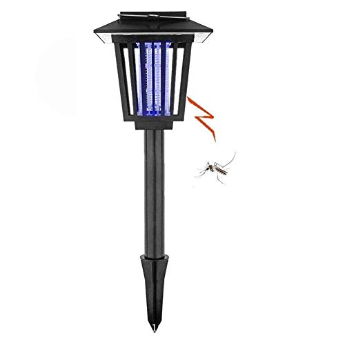 JUNFEI Solar Power Flying Insect Killer Outdoor Light 2 Pack Waterproof LED Hanging Light Stick in the Ground Lamp Path Landscape Garden Grass Street Patio Backyard Villa Night Decoration by JUNFEI