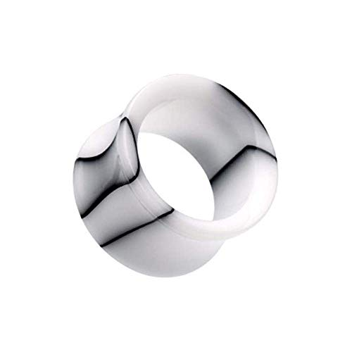 (Covet Jewelry Marble Swirl Acrylic Double Flared Ear Gauge Tunnel Plug (1/2