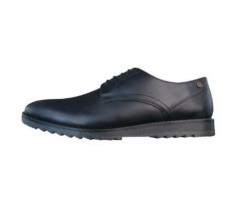 Base London Hendrix hommes Cuir Chaussures - noir