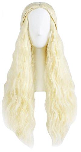Daenerys Targaryen Cosplay Wigs, Deluxe Halloween Dragon Queen Costume Hairpiece 4 Designs (C) ()