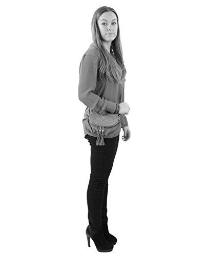 histoireDaccessoires - Bolso con Bandolera de Cuero de Mujer - SA144621GG-Edoardo Camel