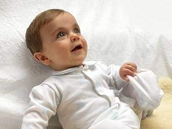 1 Month Magnet Mouse Baby Jungen Schlafstrampler blau Blaue Sterne Newborn 0-24 Monate