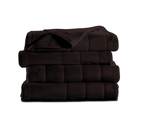 Sunbeam Heated Blanket | Microplush, 10 Heat Settings, Walnut, Queen - BSM9KQS-R470-16A00