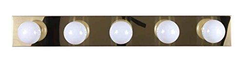 Volume Lighting V1025-2 5-Light Bath Bracket Brass Five Light Vanity Strip