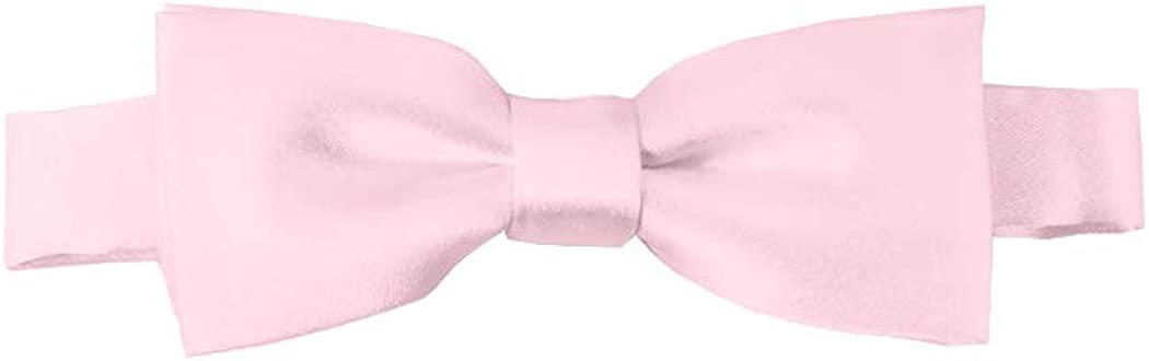 Solid Light Pink Kid's Pre-Tied Bow Tie