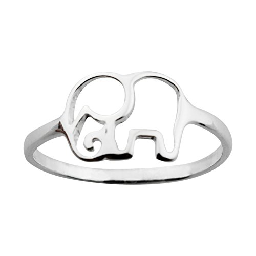 ELBLUVF 925 Sterling Silver Elephant Animal Lucky Ring Jewelry Bridesmaid Gift Favor by ELBLUVF