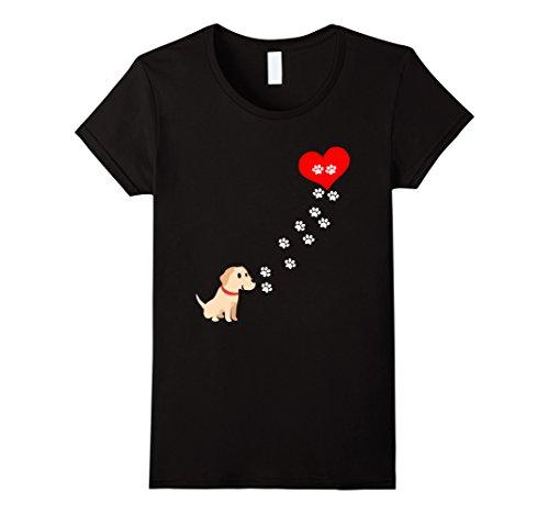 Women's From Golden Retriever Dog To My Heart T Shirt Medium (Retriever T-shirt Tee)